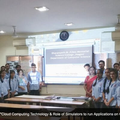 Activities conducted by Mrs.Snehal Narale ,Head Department of Computer Science