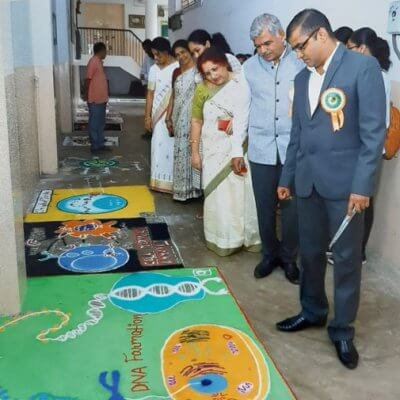 Scientific Rangoli Competition oragnized by Department of Microbiology on 14th August 2019